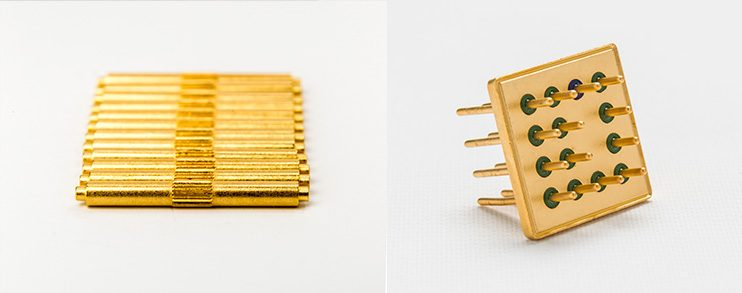 gold-plated metal finishing